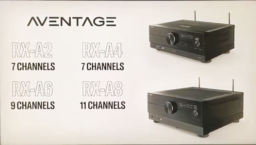 Yamaha Aventage Modelle RX-A8, RX-A6, RX-A4 und RX-A2