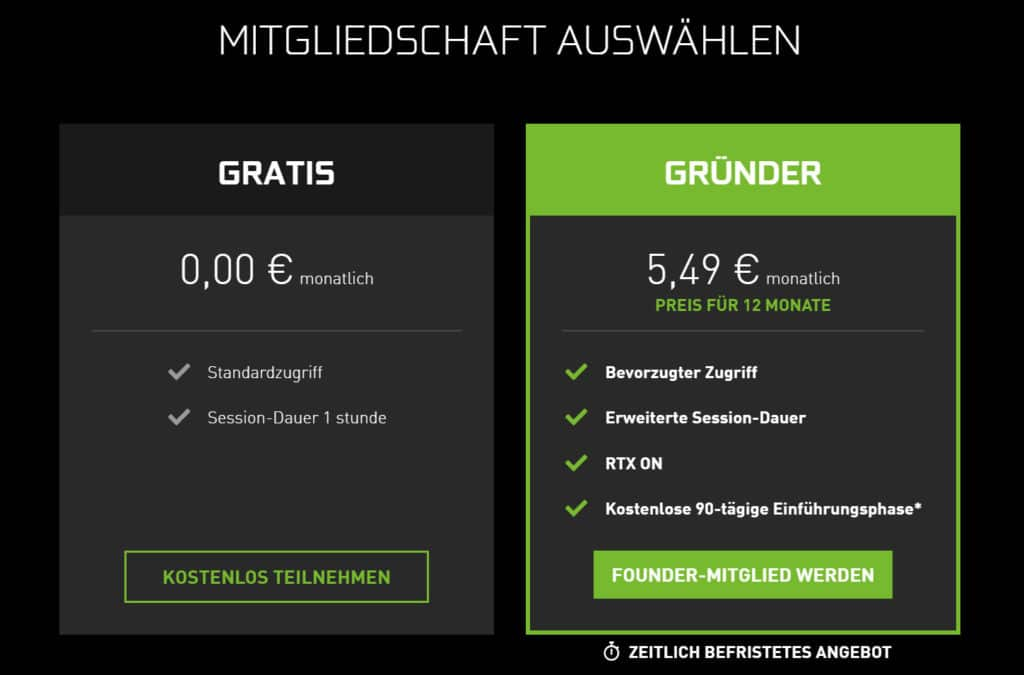 Nvidia GeForce Now Preise