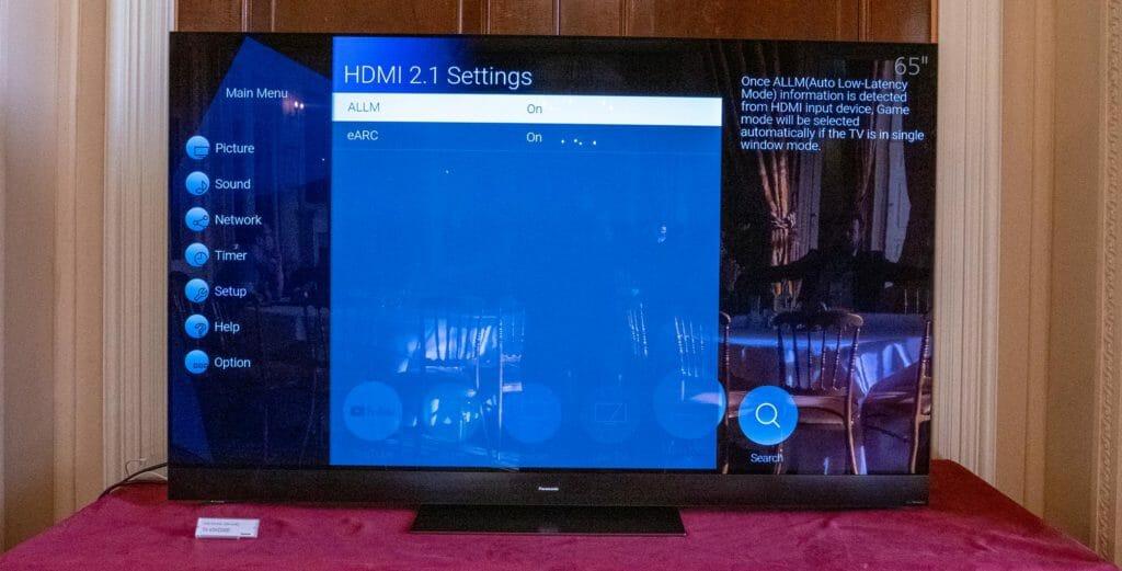 Unter den HDMI 2.1 Settings der HZW2004 und HWZ1004 Modelle lässt sich lediglich ALLM und eARC zuschalten