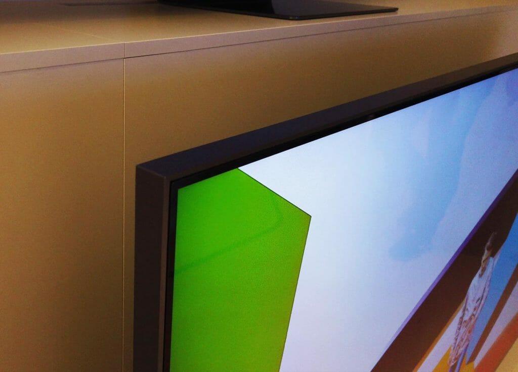 Rahmen des Q95T: Nicht so beeindrucken wie das Q950TS 8K Modell mit Infinity Display