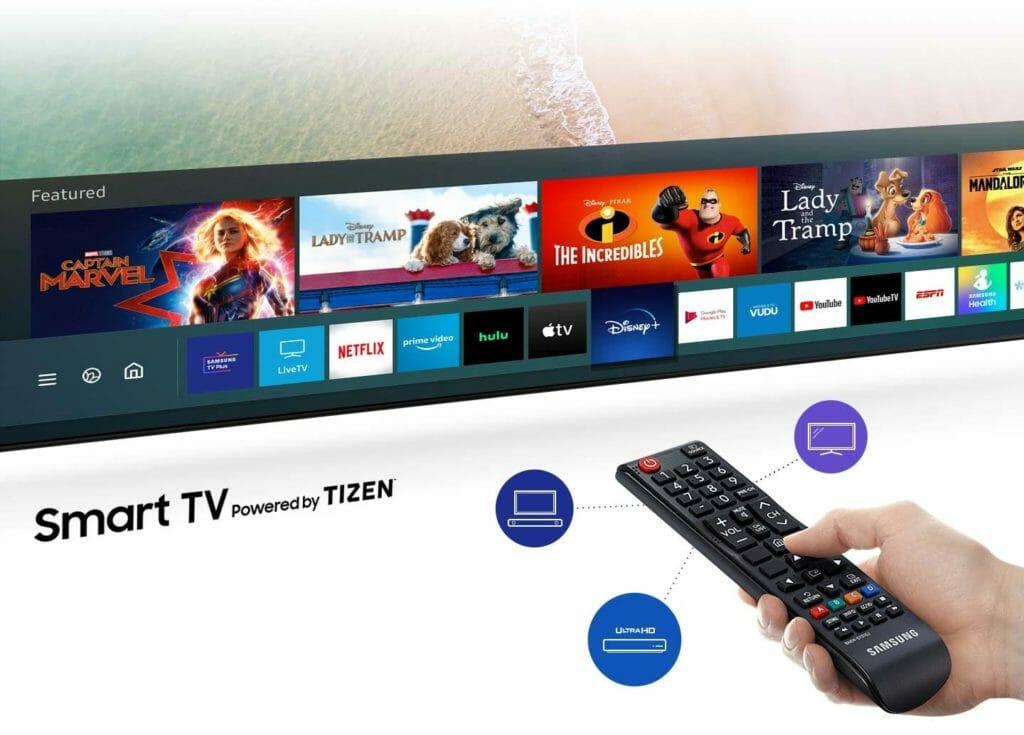 TU7000 Tizen OS Apple TV App Disney Plus Netflix