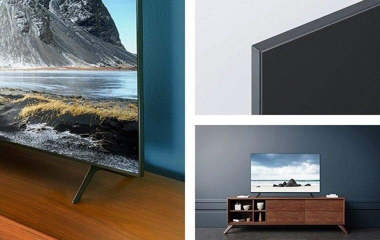 Der TU8000 Crystal UHD TV präsentiert sich ganz schick
