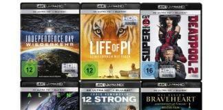 Top Unterhaltung für kleines Geld. Ausgewählte 4K Blu-rays für 14.99 Euro!