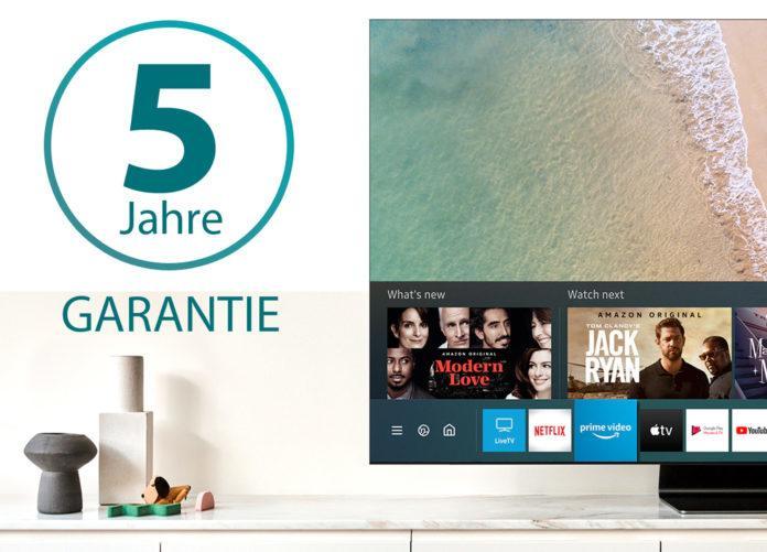 5 Jahre Garantie gratis beim Kauf eines Samsung Q950T 8K TV