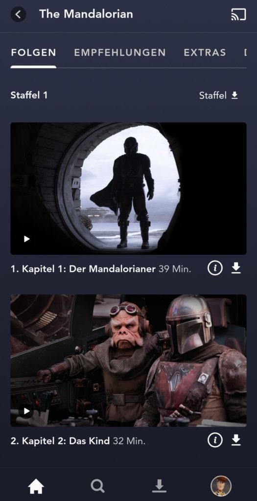 Disney+ Downloads The Mandalorian