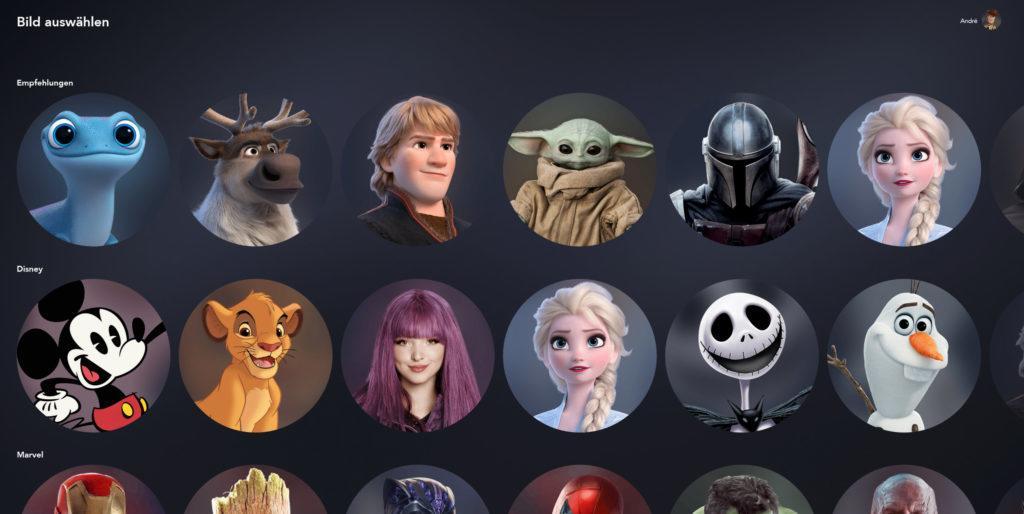 Disney+ Profilbilder