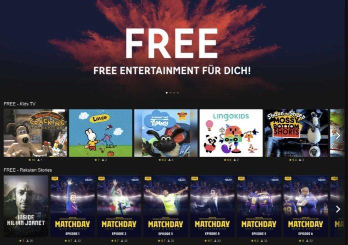 RakutenTV Free Angebot erweitert