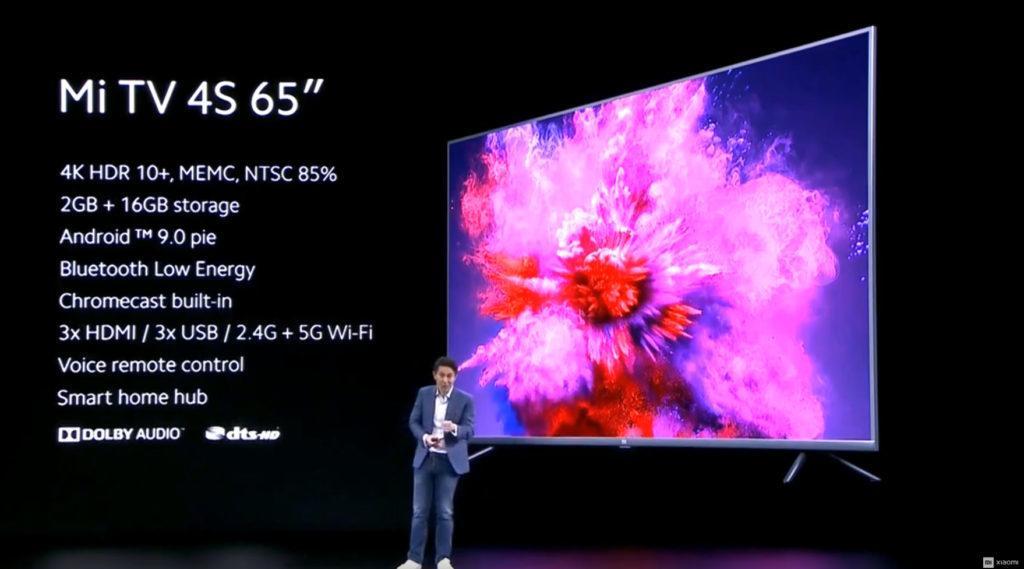 Xiaomi Mi TV 4S 65 Specs