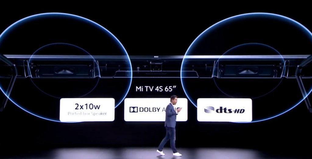"""Soll auch beim Ton punkten: der Xiaomi Mi TV 4S 65"""""""