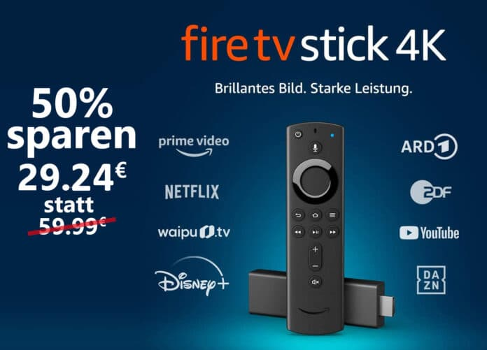 Amazon reduziert den Fire TV Stick 4K um 50 Prozent!