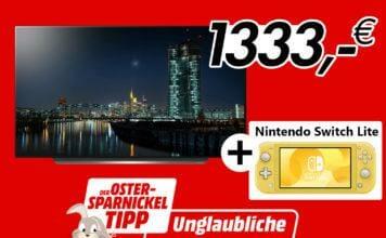 LG 4K OLED (C97) mit 55 Zoll inkl. Nintendo Switch Lite für günstige 1.333 Euro!