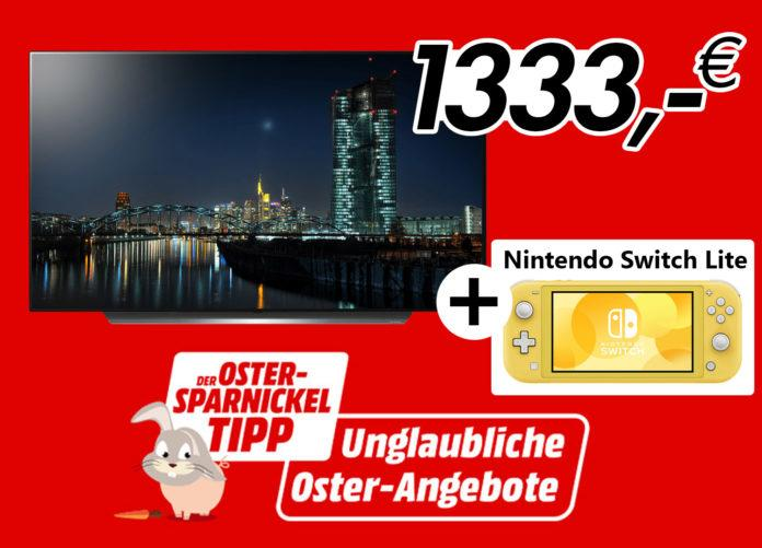 LG 4K OLED (C97) with 55 inches including Nintendo Switch Lite for cheap 1,333 euros!