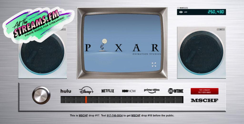 Lineares Streaming: Hier läuft gerade ein Pixar Animationsfilm auf allthestreams.fm an