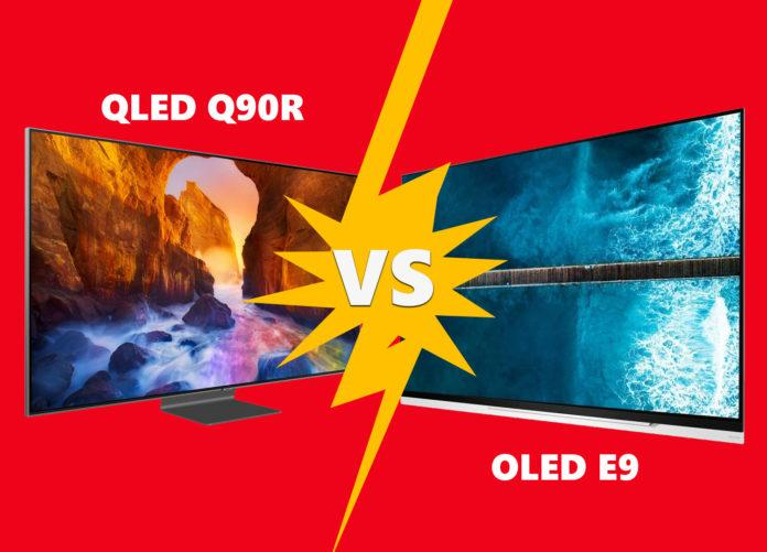 Media market lets the Samsung Q90R QLED compete against LG's E9 OLED TV