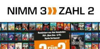 Bis zu 33% sparen! Kombiniert drei Artikel aus dem gesamten PS4, Xbox One und PC-Sortiment und zahlt nur zwei!
