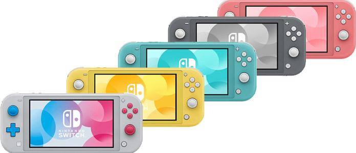 All color variants of the Nintendo Switch Lite console