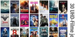 Gute Unterhaltung: 30 Filme in 4K/HDR Qualität stehen auf iTunes zu je 3.99 Euro zum Kauf