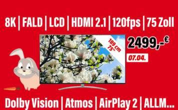 MediaMarkt reduziert den Preis seines 75 Zoll NanoCell 8K TV auf 2.499 Euro