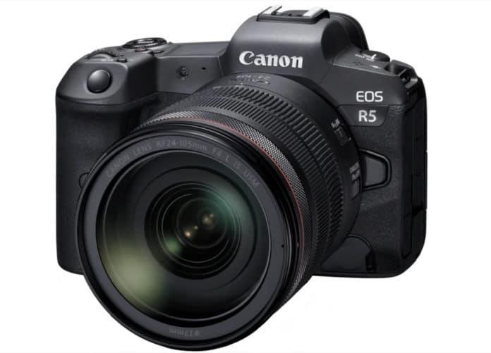 Die Canon EOS R5 zeichnet Videos mit 8K/60p oder 4K/120p auf!