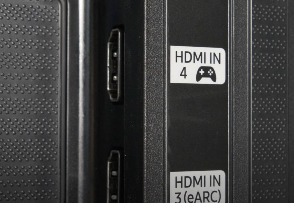 Dieser HDMI-Eingang eines Samsung Q80T unterstützt 4K/120fps mit HDR, ALLM und VRR