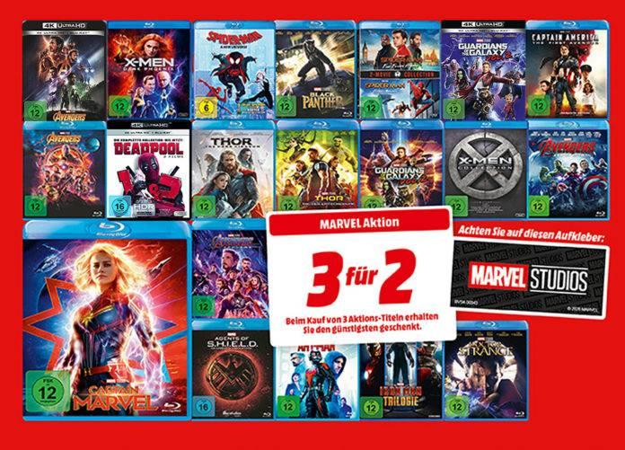 Endlich wieder eine Disc-Aktion: 3für2 auf Marvel-Filme bei Mediamarkt und Amazon