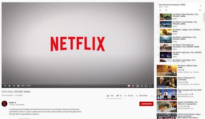 Netflix stellt unzählige Dokus kostenlos auf Youtube bereit