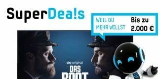 Samsung startet wieder einen seiner SuperDeals: Wer teilnehmende Fernseher mit 4K und 8K sowie ausgewählte Soundbars kauft, erhält im Aktionszeitraum bis zu 2.000 Euro nach dem Kauf als Cashback zurück.
