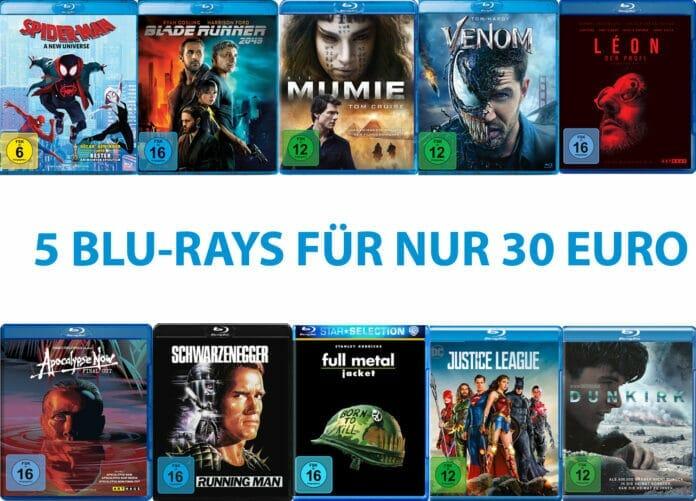 5x beste Unterhaltung auf Blu-ray für nur 30 Euro!