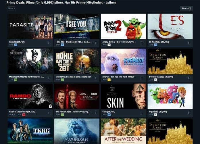Es ist wieder soweit: Prime Mitglieder können Blockbuster-Filme für günstige 99 Cent ausleihen