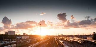 Bahn Sonnenuntergang