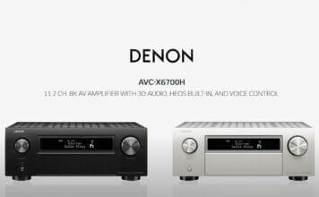 Denon AVC-X6700H 11.2 Kanal Receiver in Schwarz und Silber