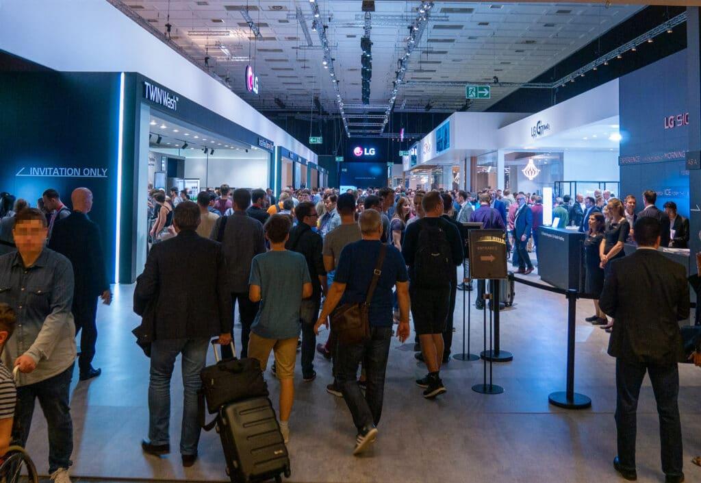 Volle Messehallen wie hier bei LG Electronics wird es auf der IFA 2020 nicht geben