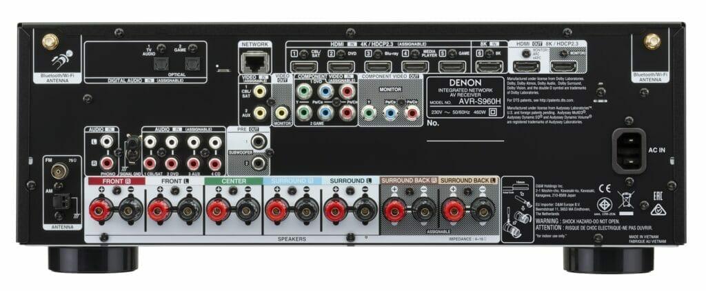 Denon AVR S960H Eingänge