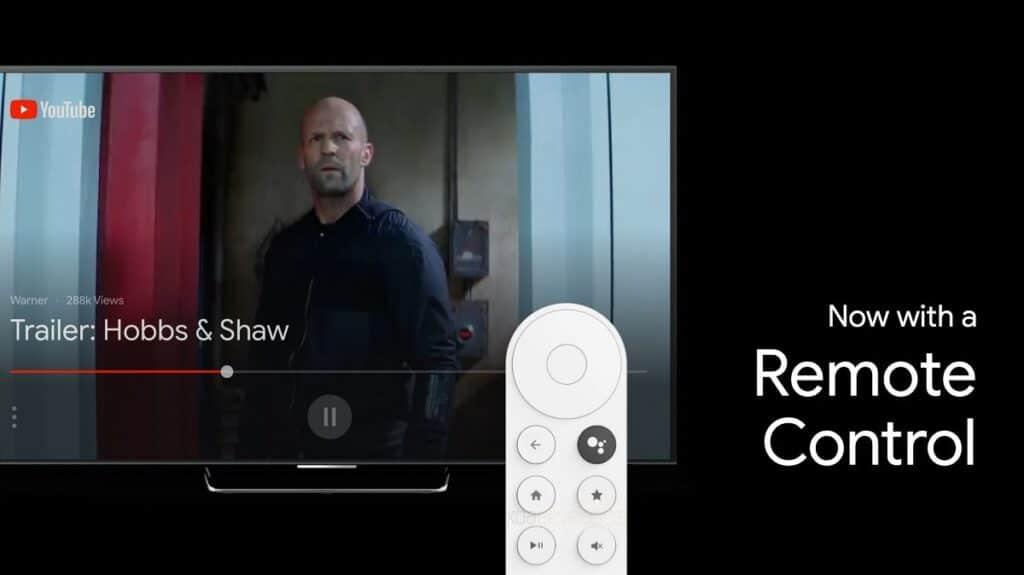 Die Fernbedienung des neuen Chromecast-Geräts