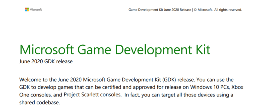 Microsoft Entwickler Kit