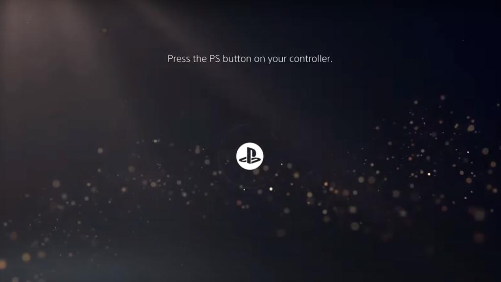 PS5 Start Screen