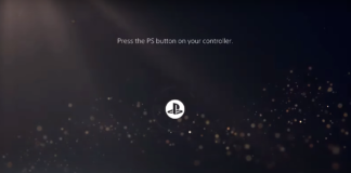PS5 Start Screen