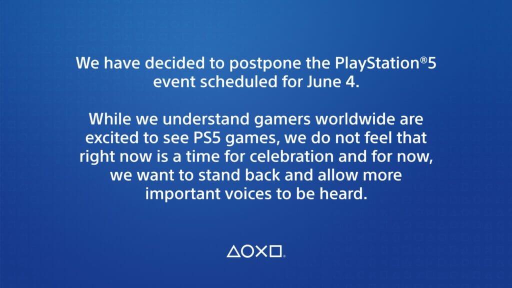 PlayStation Twitter Event Verschiebung