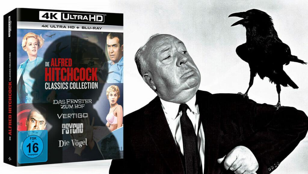 Alfred Hitchcock 4 Film Klassiker auf 4K Blu-ray