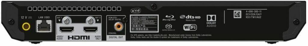 Mehr Anschlüsse braucht es nicht für ein optimales, audiovisuelles Erlebnis (Sony UBP-X700)