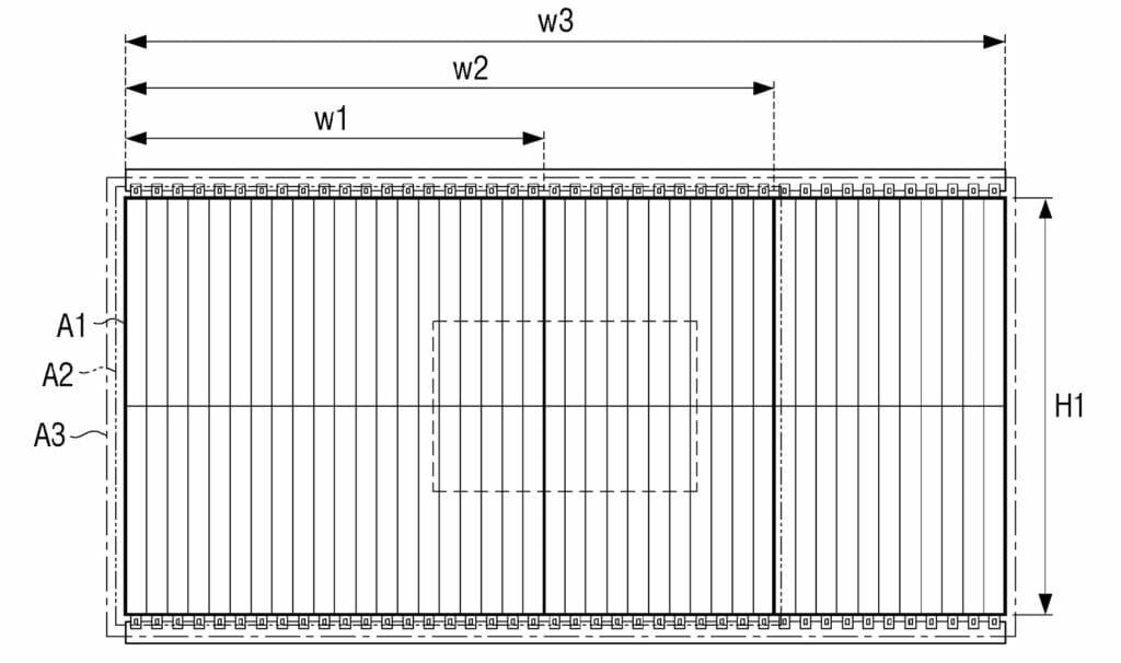 """Micro-LED-Displaymodule können in verschiedenen Bildverhältnissen (W1, W2, W3"""" montiert werden"""