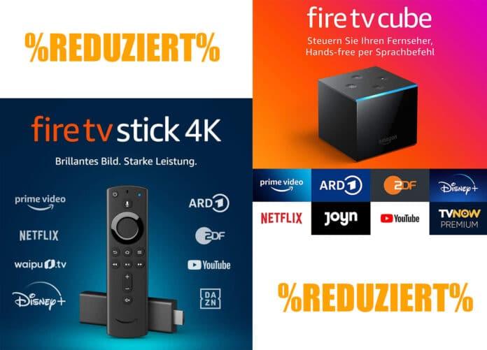 Bis zu 50% günstiger: Fire TV Stick (HD), Fire TV Stick 4K und Fire TV Cube von Amazon