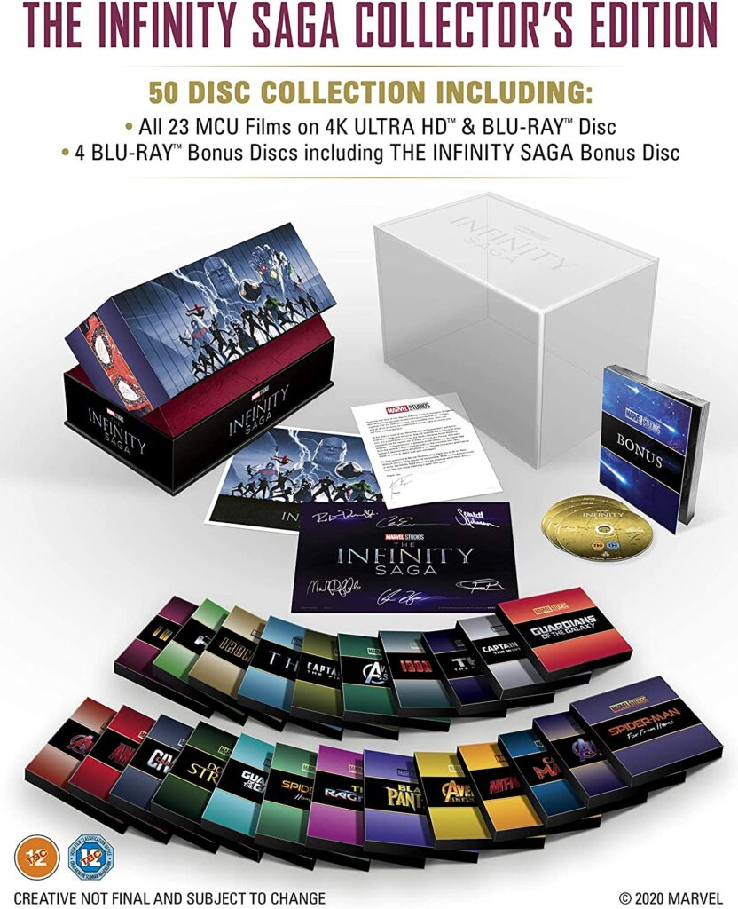"Der komplette Inhalt der ""MCU The Infinity Saga: Complete Collection"""