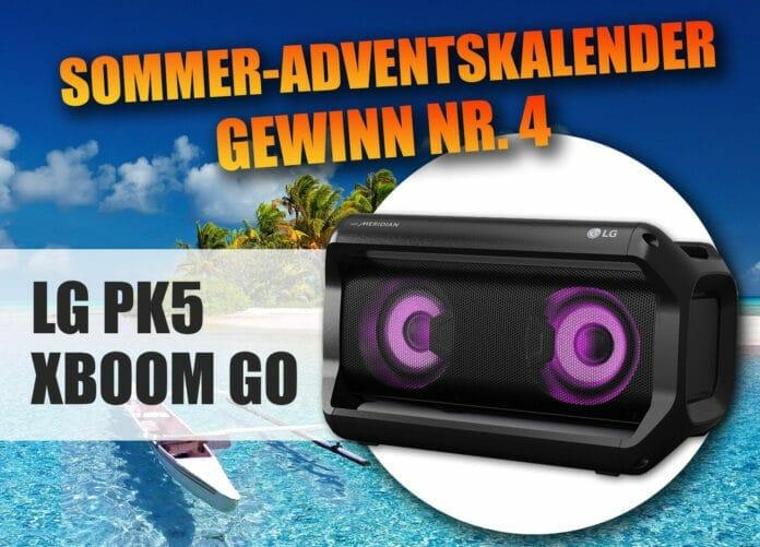 Gewinne LGs PK5 XBOOM GO Bluetooth Lautsprecher!