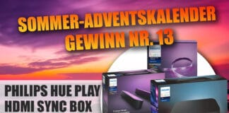 Gewinne Ambilight im kompletten Wohnzimmer mit unserem Philips Hue Play HDMI Sync Box Megapaket
