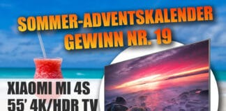 Unser zweiter aber nicht letzter 4K HDR TV in unserem Gewinnspiel ist der Xiaomi Mi 4S