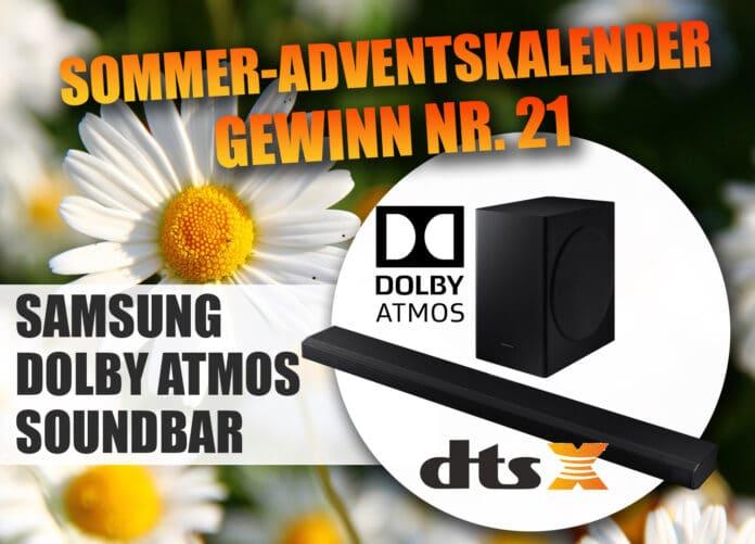 Gewinne ein Samsung HW-Q70T Dolby Atmos Soundbar mit kabellosem Subwoofer im Wert von 749 Euro!