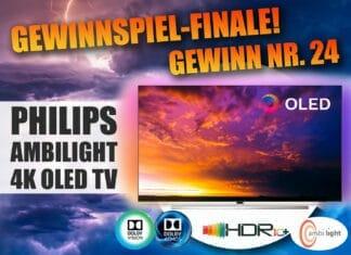 Das große Gewinnspiel-Finale: Gewinnt einen Philips 4K OLED TV (65 Zoll) mit Ambilight