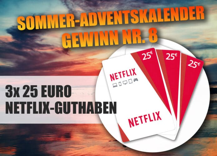 Filme und Serien bis zum Abwinken: Gewinne eine von drei 25 Euro Netflix-Guthabenkarten