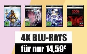 Da soll noch einer sagen 4K Blu-rays sind teuer: Filme für 14.59 Euro!